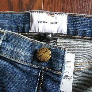 NWT Current Ellioy Super High Waisted Skinny Sz 26